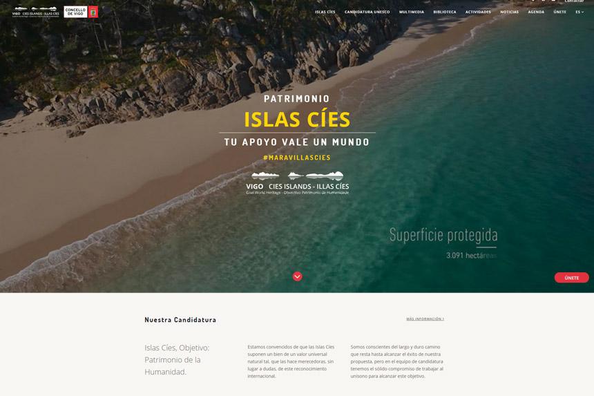 Homepage Vigo Islas Cies