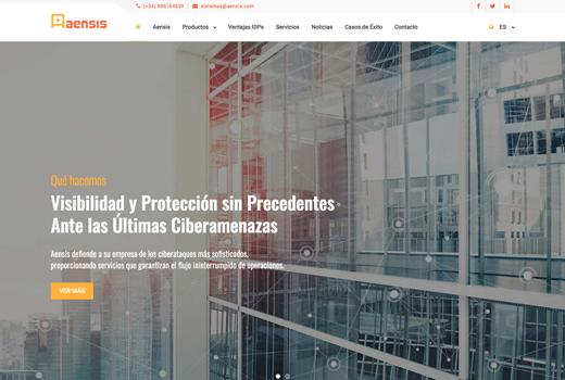 Diseño Web Aensis Ciberseguridad