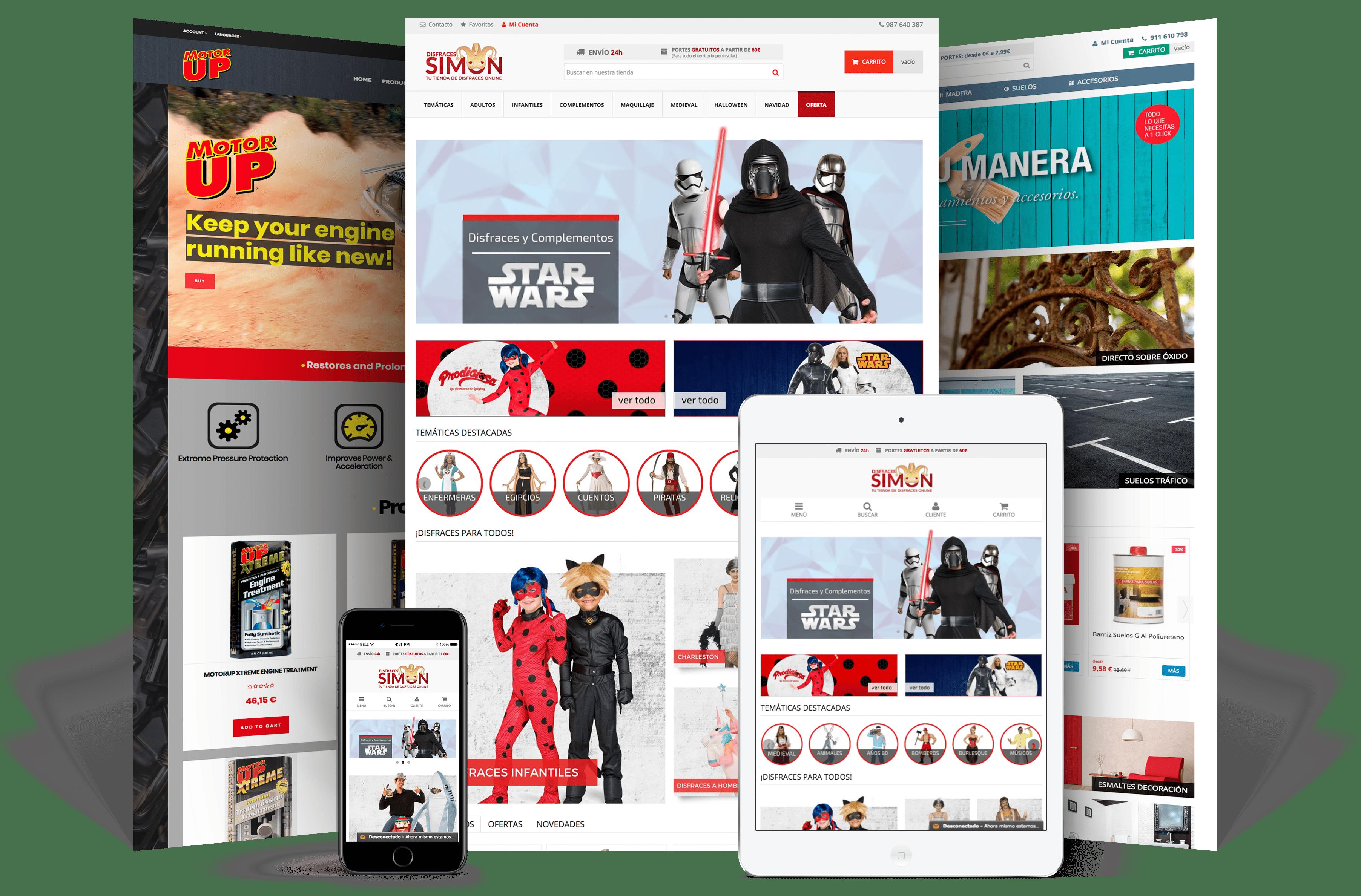 Diseño de tiendas online Vigo