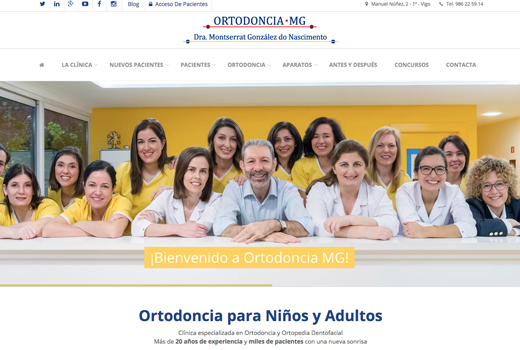 Diseño de Página Web Ortodoncia MG en Vigo
